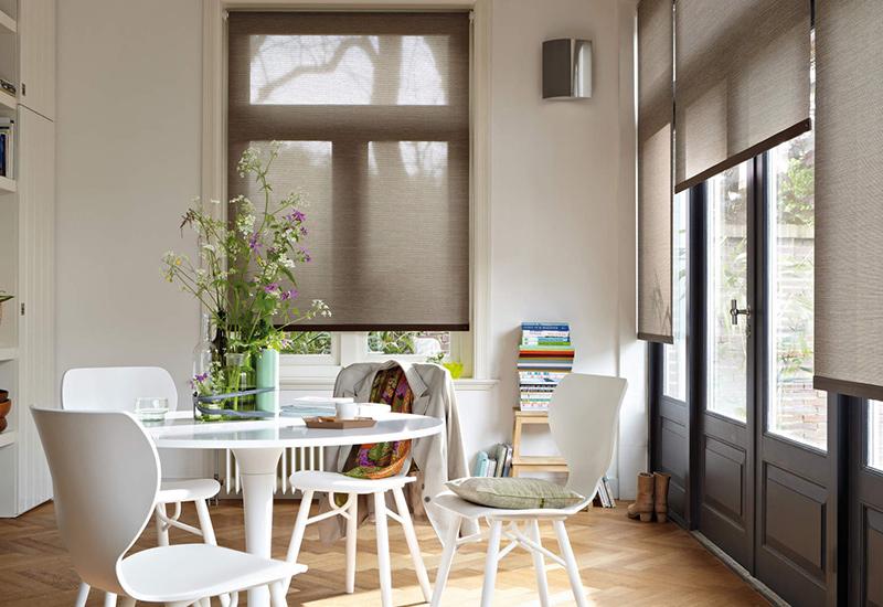 interieur planten gordijnen eettafel
