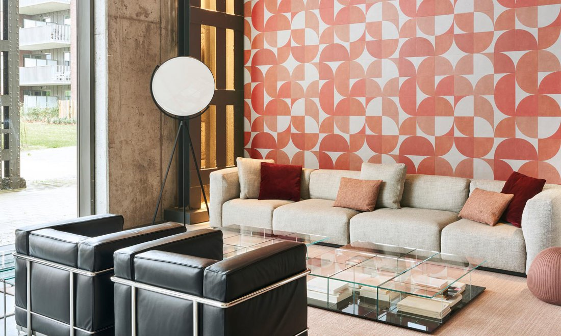 Arte atelier behang oranje geometrische vormen