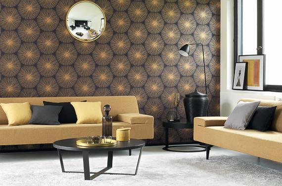 Casadeco helsinki behang met bijenkorf print