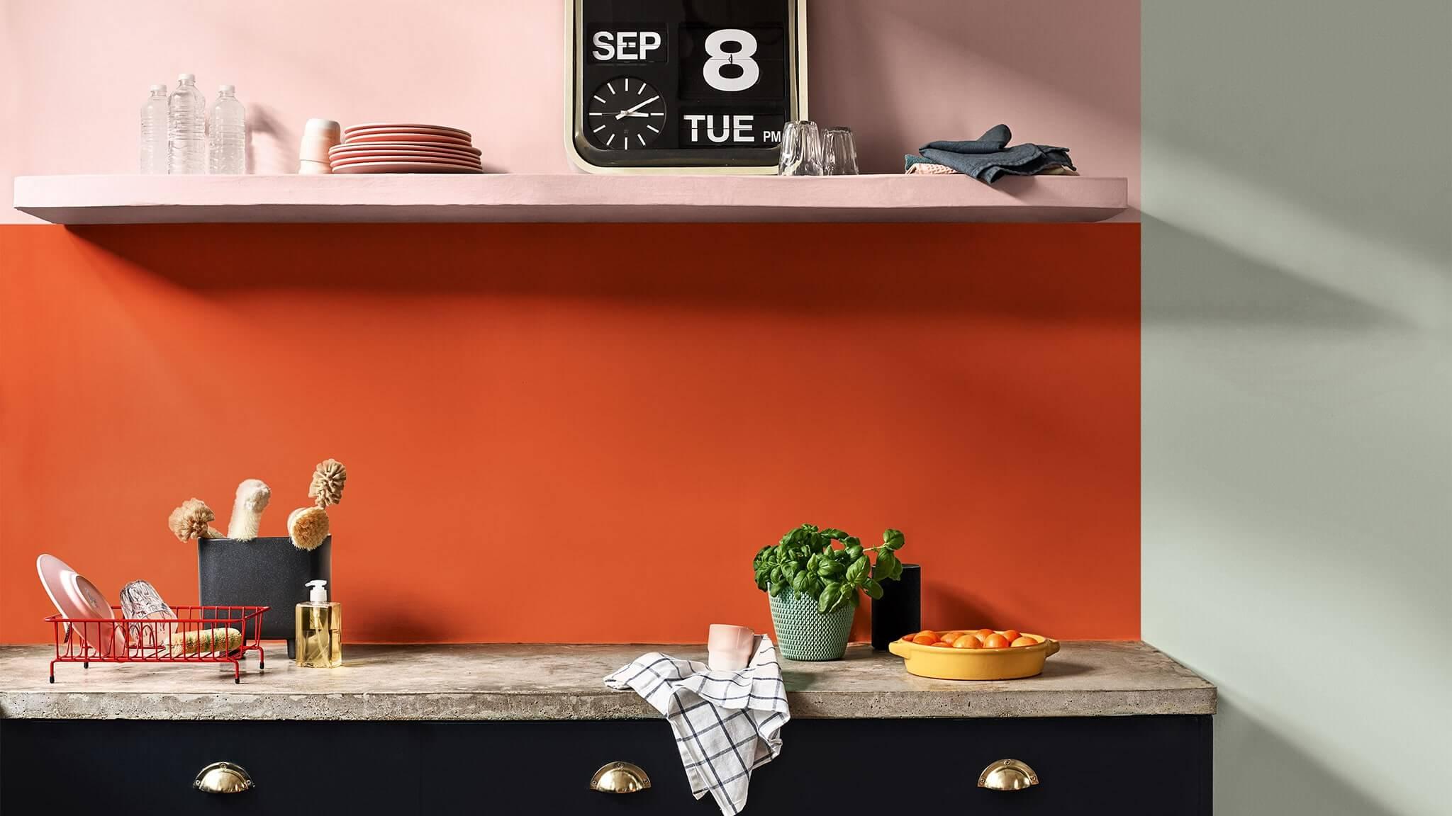 verf oranje keuken